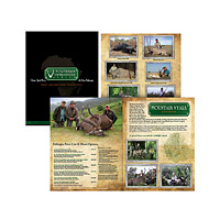 12-page, full-color African hunting safari catalog.