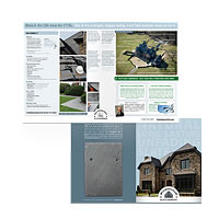 National product brochure for historic American slate quarry.