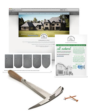 Marketing package for Buckingham Slate Co., including rebranding, web design, SEO, product photography and product literature (brochures, technical documents, sales sheets). Website is #1 on search engines.