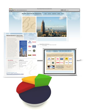 Rebranding, web design, photography, brochure design and visual slideshow presentation for a corporate real estate firm.